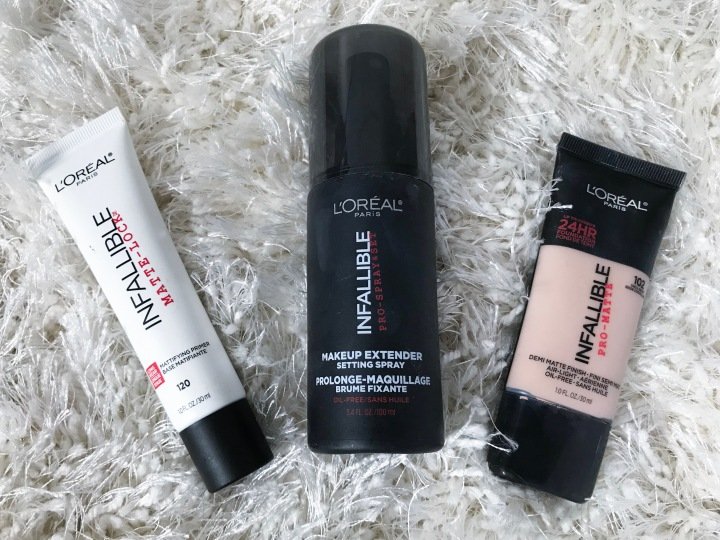 """Makeup Review: L'Oreal """"Infallible""""collection."""